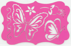 Cardmaking Metal Stencil Template For Embossing & Stenciling Butterflies