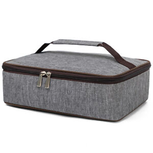 Insulated Casserole Carrier, Padded Lasagna Holder, Expandable Hot and Cold