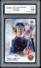 2014 Ted Ligety Topps Usa Olympics Skiing Bronze Foil Rookie Gem 10 #56