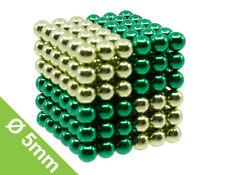 Set mit 216 Kugeln zum Würfel geformt 5mm Kugelmagnetln Grün