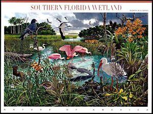 Mint Sheet 10 SOUTHERN FLORIDA WETLAND Stamps: Roseate Spoonbills, Ibis, Storks