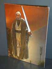 "1996-Star Wars, ""Finest""- ""Foil-Embossed"" - Subset Chase Card - F-3 - Obi-Wan."