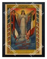 Historic WWI Recrutiment Poster Peace, justice, liberty Postcard