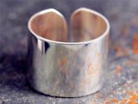 Silberring Breit Glatt Schlicht Dezent Ring Silber 925 Verstellbar Offen