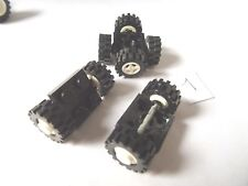PART 4600 BLACK 2 x 2 WHEEL HOLDER PLUS 4 WHEELS WITH WHITE HUBS (MIXED DESIGNS)