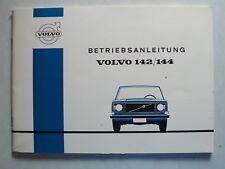 Volvo 142 / 144 Betriebsanleitung, 9.1971, 76 Seiten