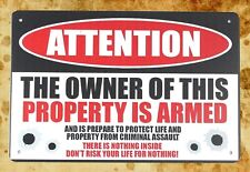 """METAL SIGN Property Of US ARMY Tinn novelty gift 17x3/"""" green brand new"""