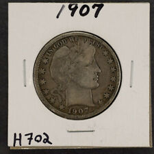 1907 50c Silver Barber Half Dollar - Fine Coin - Lot#H702