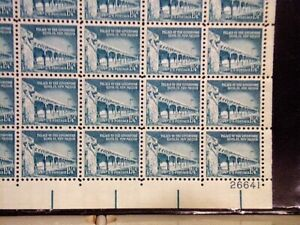US# 1031A 1 1/4c Palace Governors  lr pos.26641 VF Sheet of100 Perfect! FV=$1.25