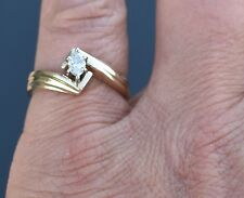 .20 ct Diamond Marquise Solitaire 14k Yellow Gold Ring ~ Size 7.5 ~ 4 g
