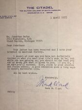 WW2 Mark Clark Signed Letter