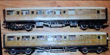 Two Hornby Railways LNER Wooden Coaches 4237 OO Gauge