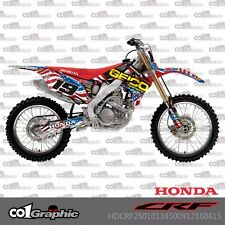 GRAPHICS DECALS STICKERS KIT FOR HONDA CRF250R 2010-2013 CRF450R 2009-2012