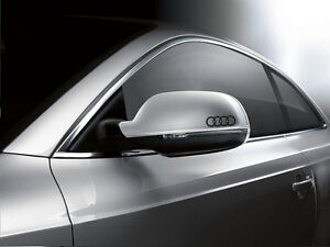 2x Audi Logo Car Decals Rings Logo Car Graphics for Wing Mirrors and Other Use
