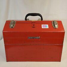 Craftsman Red Metal Hip Roof Mechanics Tool Box Fold Out Trays Usa Vintage