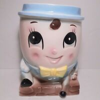 Rubens Humpty Dumpty Planter Head Vase Japan Ceramic 1950s Vintage 3106 Rare
