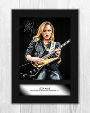 Lzzy Hale (1) A4 signed mounted photograph picture poster. Choice of frame.