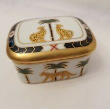 Christian Dior Casablanca  Leopard and Palm Tree Trinket Box