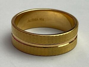 """.916 22ct """"Yellow"""" AU FINJA Gold Band Ring Size UK """"R 1/2"""" Available Worldwide"""