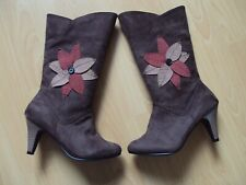 Joe Browns Brown/Tan/Red Size 5 Boots Flower/Floral NWT