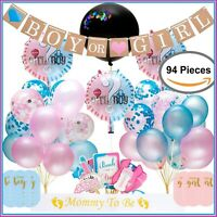 Gender Reveal Party Supplies,  Baby Shower Boy or Girl Reveal Kit (94 Pieces)