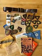VINTAGE GIRL GUIDE MEMORABILIA BADGES PATCHES BELT BOOKS ETC