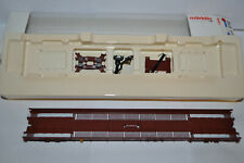 Marklin 4740 DB 1-Car Metal Low-Loader End Set (Brown Color) - NEW w/Box