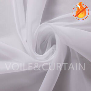 White fire retardant Voile Fabric 150,210 and 300cm wide Event Ceiling Drapes