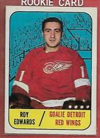 67 68 TOPPS#106**ROY EDWARDS**RC (DETROIT RED-WINGS)Look Picture For Condition!