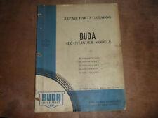 Buda 6 Cylinder Engine K 428 4 38 X 4 34 Parts Catalog Manual