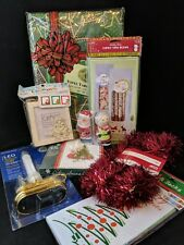Lot Of 10 Misc. Christmas Items, Great Mix LED Candle Candy Boxes Cards Craft