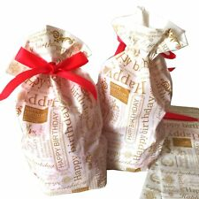 HAPPY BIRTHDAY BAGS WITH DRAWSTRING FOR HANDMADE BAKING CANDY SOAP JEWELRY WRAP