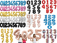"""32"""" 40"""" Giant Foil Number Balloons Wedding letter Air Helium Birthday Age Party"""