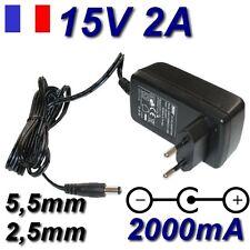 Adaptateur secteur alimentation AC DC 220V 15V 2A 5,5mm