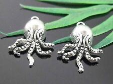 Free Ship 16Pcs Tibetan Silver Octopus Charms Pendants 20x15mm