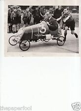 "Vintage 1939 Soap box derby car race photo ""George Eyston"""