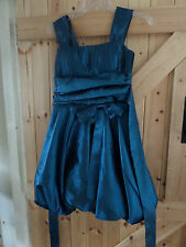 """Stunning Approx Size 12 Denim Blue Party Dress By JK2  Chest To 36"""" Very Pretty"""
