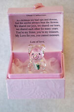 Special SISTER PERSONALISED Cute Bear Box GIFT@22KT Gold@Bridesmaids@LOVE MY SIS