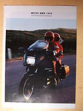 Prospectus -  Motos BMW- 1992 - TBE