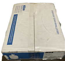 50 Count Heavy Duty Garbage Can Liners 55-60 Gallon Trash Bags 2.0 Mil Clear