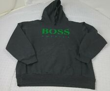 Rare VTG Hugo BOSS America SPELL-OUT Hoodie Hooded Sweatshirt Size M L