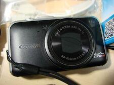 Canon PowerShot SX230 HS 12.1 MegaPixels w.Charger, 3 batteries, Cables and Carr