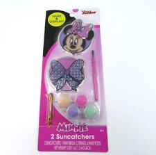 Disney Minnie Mouse and Bow 2 Suncatchers Art Kit Paint & Brush Set Craft Fun