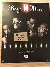 Boyz II Men Evolution 1998 Vintage Promotional Album Print Ad