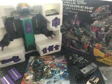 G1 Transformers Trypticon Complete W Poster! Fully Working Plus Stunticons Xtra