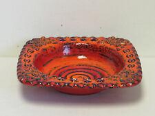 More details for retro 1960s/70s dumler & breiden studio 74 west germany large orange & blue bowl