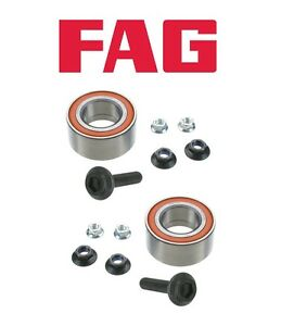 For Audi A4 A6 A8 Allroad Quattro S4 Pair Set of Two Front Wheel Bearing Kits