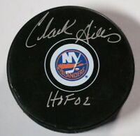 New York Islanders Clark Gillies Signed Autographed Puck Auto NHL Hockey HOF