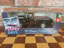Ertl American Muscle Happy Days '57 1957 Chevy Cameo Pickup 1:18 Black New 2001