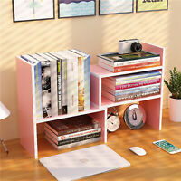 Desktop Wood Book Shelf Bookcase Storage Display Stand Sorter Rack Organizer,USA
